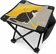Camping Hocker Cat with Yellow Umbrella Small