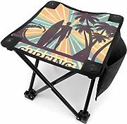 Camping Hocker Tropical Surfing with Palm Trees