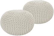 casamia 2er Set Strickhocker Hocker Strick Pouf