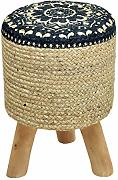casamia Sitz-Hocker Jute-Optik Pouf Schemel mit