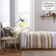 Catherine Lansfield Newquay Stripe Bettwäsche-Set