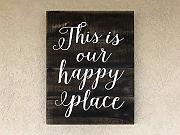 "CELYCASY Happy Place Holzschild ""This is Our"