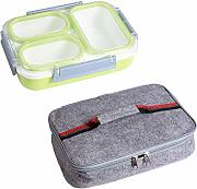 CZDZSWWW Leakproof Lunch Box separate Fach School