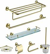 DALUXE Gold-Badezimmer-Serie Set Adhesive