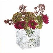 Dartington Crystal Marguerite Vase, quadratisch,