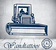 "das-label Wandtattoo Bulldozer ""machine"
