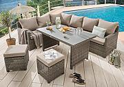 Destiny Loungegruppe Bergamo Eckgruppe Mixed Grey