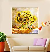 DIY 5d Diamond Painting Sunflower vase Embroidery