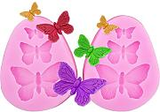 Dosige 2 Pcs 3D Silikon Backform Butterfly Crown