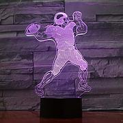 Dtcrzjxh Rugby Player 3D Lampe Usb Led Nachtlampe