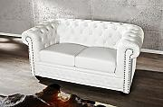 DuNord Design Sofa Couch CHESTERFIELD 2er weiss