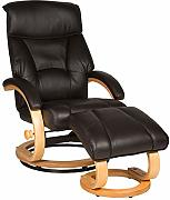 Duo Collection Relax Sessel mit Hocker, Softleder/