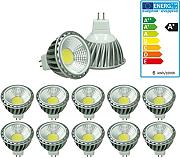 ECD Germany 10-er Pack LED Spot COB MR16 6W -