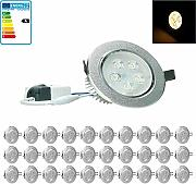 ECD Germany 30-er Pack LED Einbaustrahler 5W 230V
