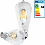 ECD Germany 5-er Set LED Birne Filament E27 Edison