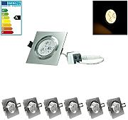 ECD Germany 6-er Pack LED Einbaustrahler 3W 230V -