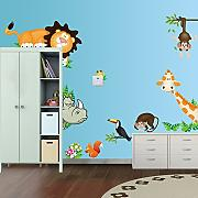 Ecloud Shop Jungle Wild Animal Wall Sticker