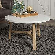 Eden Bridge Designs runder Couchtisch, Laminat,