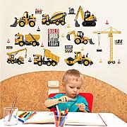 EyingEr Cartoon Tractor Wall Stickers Diy Cars