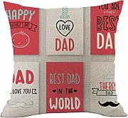 Father's Day Deko Kissen I Love Dad Baumwolle