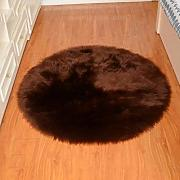 Faux Fur Area Rug, rund Super Soft Silky Comfort