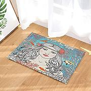 FEIYANG Ocean Creature Decors Hand Drawn Mermaid