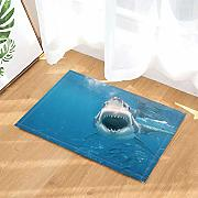 FEIYANG Oceanic Bath Rug Wildheit Shark Jaws