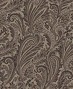 Flock Tapete Rasch Textil Savile Row Floral taupe
