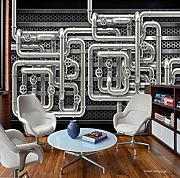 Fototapete 3D Pipe Heavy Metal Bar Ktv