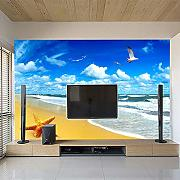 Fototapete 3D Seaside Beach Wandbild Tapete