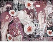 Fototapete Gustav Klimt Collage - Vlies Wand