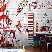 Fototapete Ktv Hotel Bar Wallpaper Graffiti