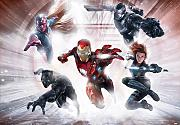Fototapete Marvel Civil War Avengers Team Iron Man