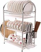 FuweiEncore 3-Tier Edelstahl Compact Dish Drainer