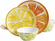 Gibson Home Sunny Citrus rundes