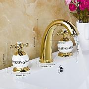 Golden verchromt Bad Armatur 3er Set Badewanne