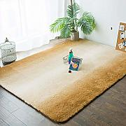 Gradient Shaggy Rug High Pile Area Rug flauschige