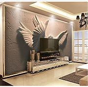 Gwgdjk Stereoscopic Double Flying Pigeon Murals 3D