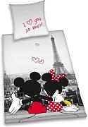 h Bettwäsche Mickey + Minnie Mouse Maus Paris