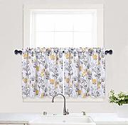 Haperlare Cafe Curtains 61 cm, Blatt Blume