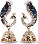 Haven shop Retro Indische Bollywood Kundan Pfau