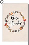 Herbst-Give Thanksgiving, Gartenkranz, vertikal,