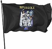 HJEMD Beetlejuice Home Outdoor Dekoration Flagge,