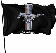 HJEMD Mustang Home Outdoor Dekoration Flagge,