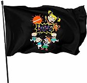HJEMD Rugrats Home Outdoor Dekoration Flagge,