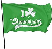 HJEMD Shenanigans Home Outdoor Dekoration Flagge,