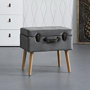 HOCKER in dunkelgrau 'Viki'
