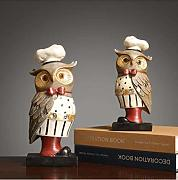 Home Decoration Crafts 2Pcs American Resin Owl