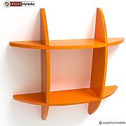 Homestyle4u Wandregal Cube Wandboard Retro Regal