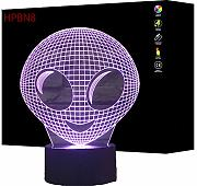 HPBN8 3D Aliens Illusions LED Lampen Tolle 7